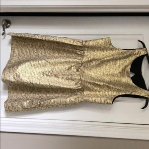 Black/gold mini dress. Open back. Wore once.